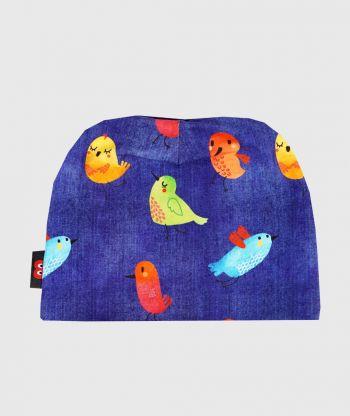 Baggy Hat Birds Blue