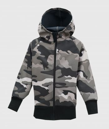 Waterproof Softshell Hoodie Army Grey