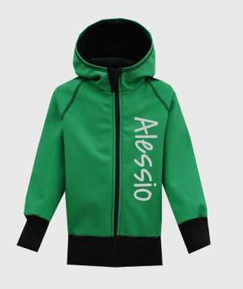 Waterproof Softshell Hoodie Happy Green