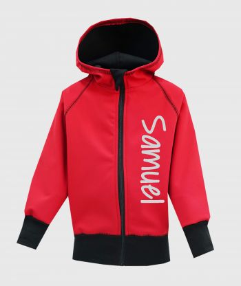 Waterproof Softshell Hoodie Red