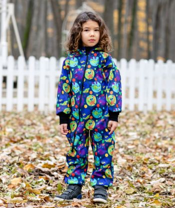 Waterproof Softshell Overall Comfy Dragons Jumpsuit