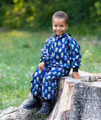 Waterproof Softshell Overall Comfy Owls Jumpsuit