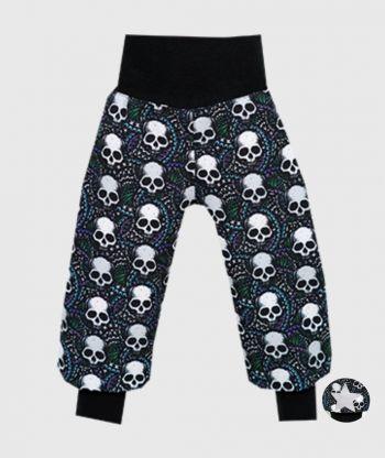 Waterproof Softshell Pants Skulls Black