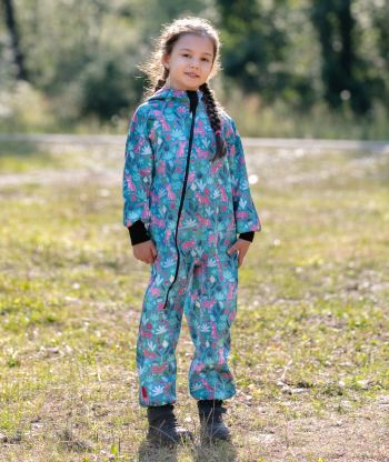 Waterproof Softshell Overall Comfy Panthers Jumpsuit