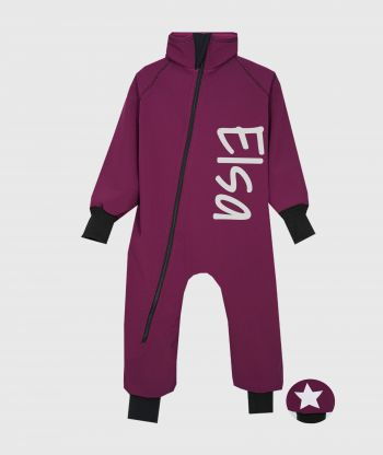 Waterproof Softshell Overall Comfy Burgundy Bodysuit