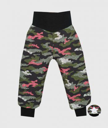 Waterproof Softshell Pants Camouflage Green