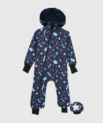 Waterproof Softshell Overall Comfy Music Jumpsuit