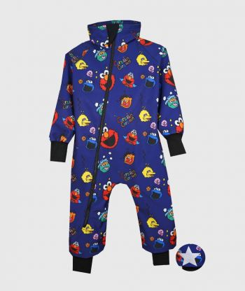 Waterproof Softshell Overall Comfy Funny Faces Bodysuit