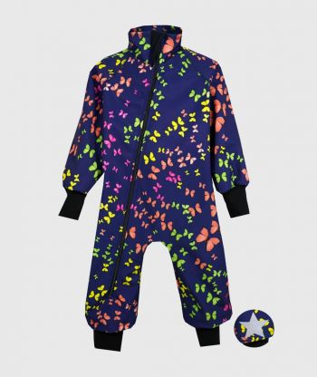 Waterproof Softshell Overall Comfy Colorful Butterflies Bodysuit
