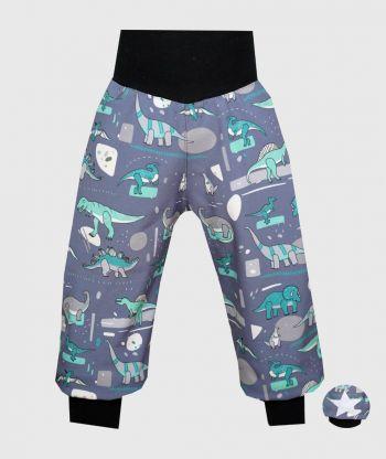 Waterproof Softshell Pants Dinosurus Grey