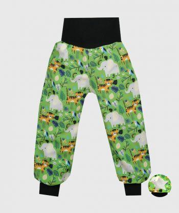Waterproof Softshell Pants Jungle Animals