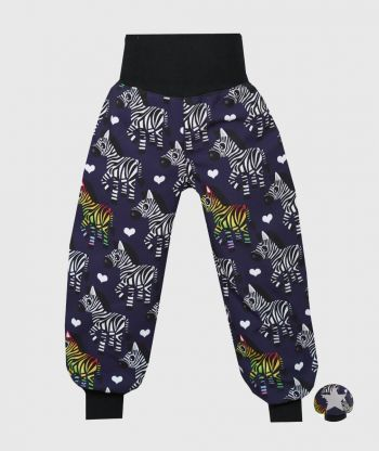 Waterproof Softshell Pants Zebra Dark Blue