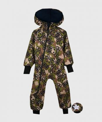 Waterproof Softshell Overall Comfy Skelelton Bunny Jumpsuit