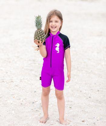 Swimsuit Purple/Black